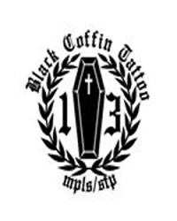 Black Coffin Tattoo